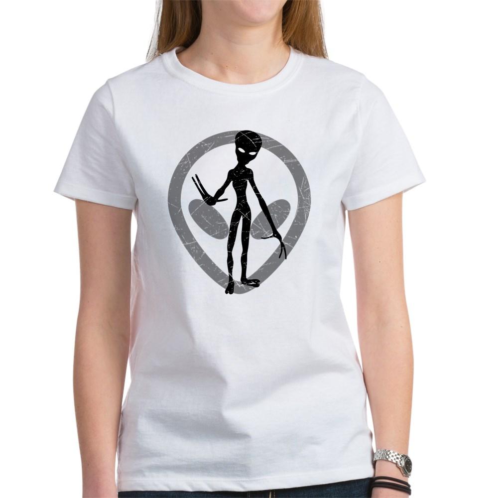 Distressed Alien Women's T-Shirt