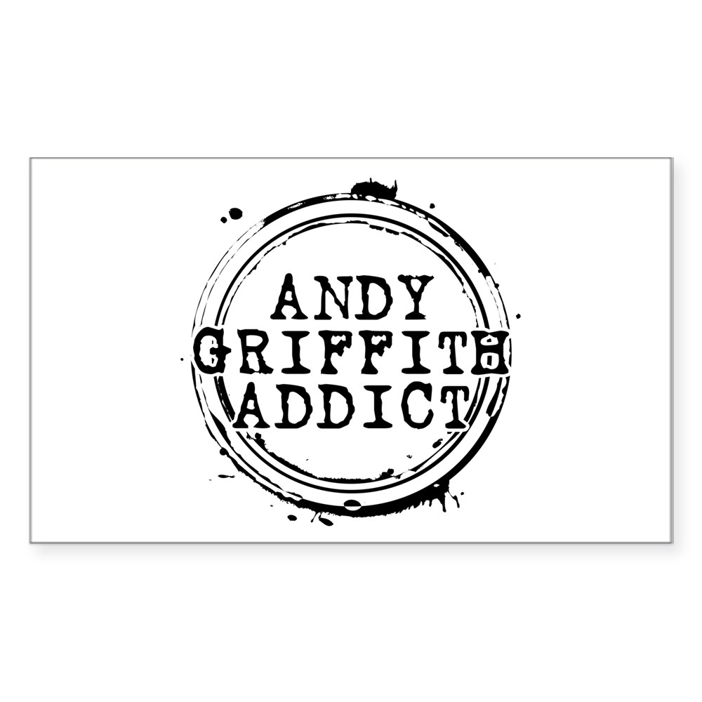 Andy Griffith Addict Rectangle Sticker