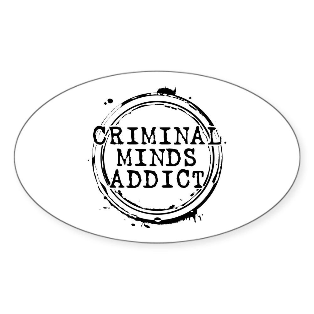 Criminal Minds Addict Oval Sticker