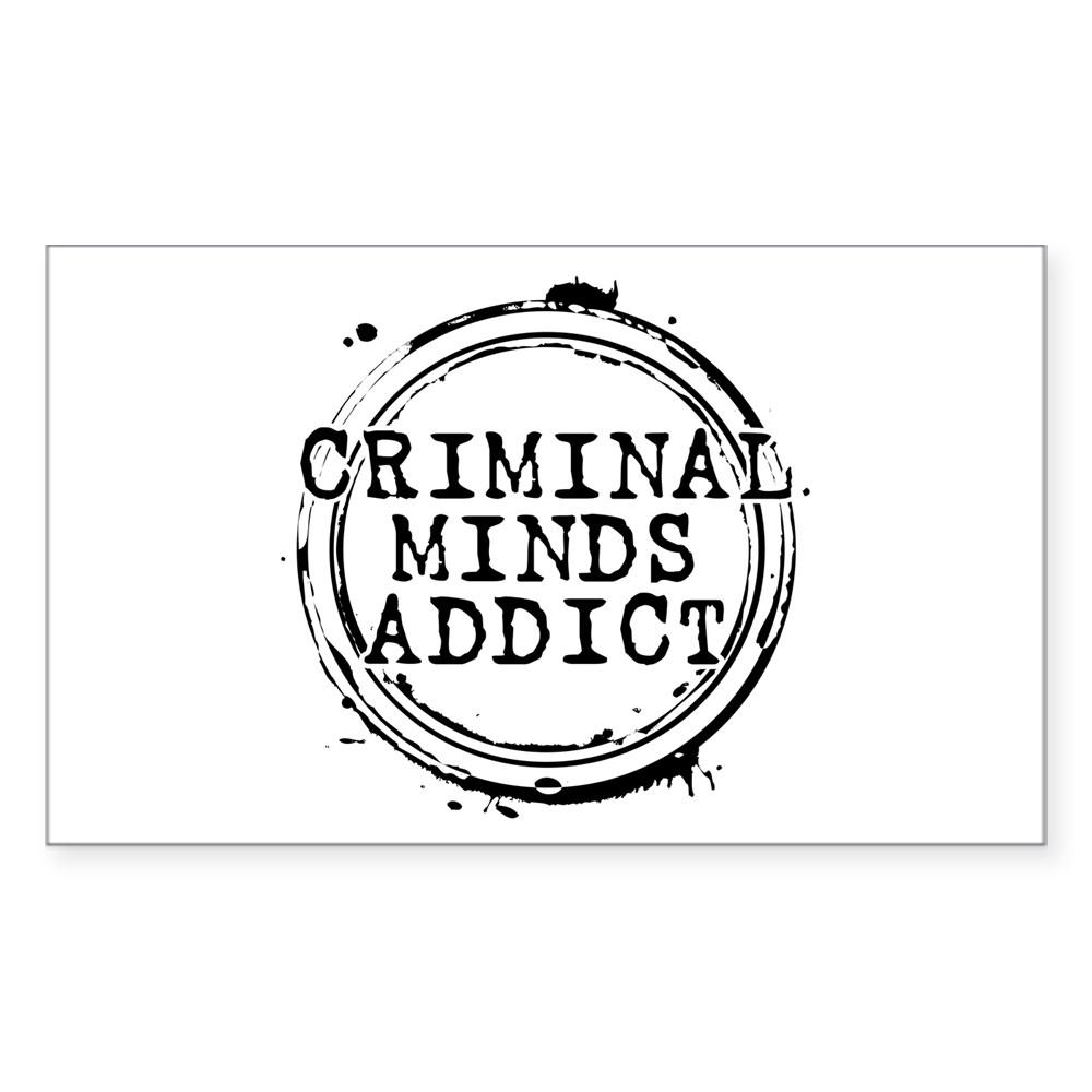 Criminal Minds Addict Rectangle Sticker
