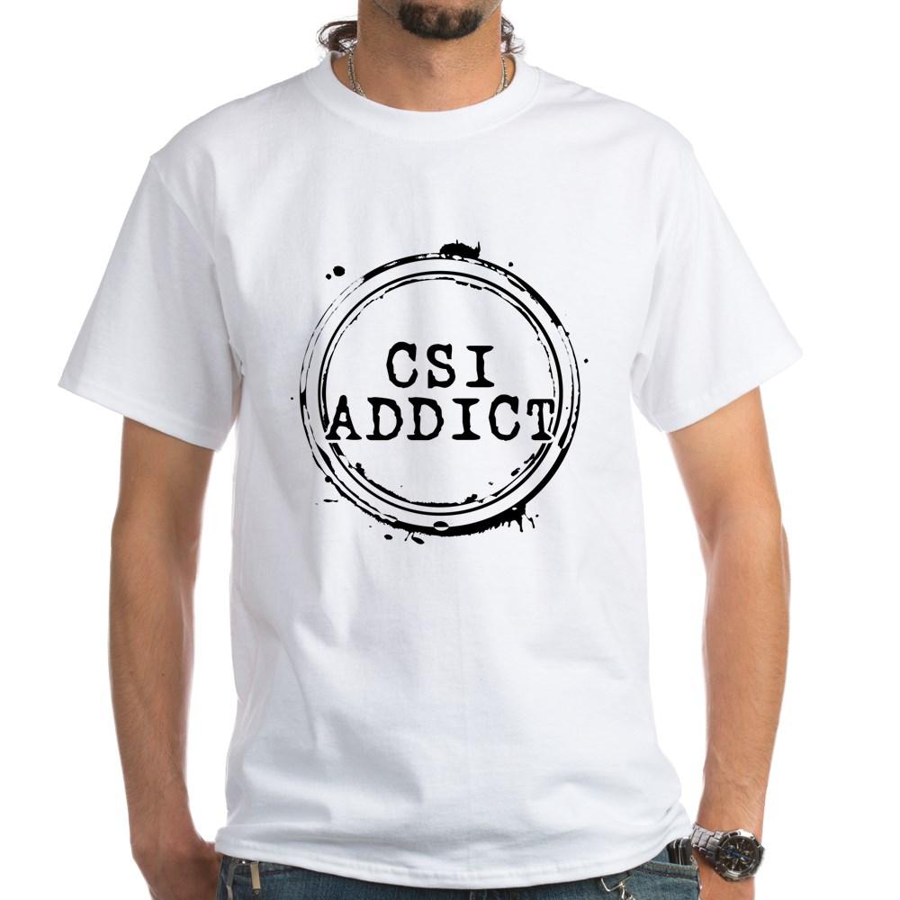CSI Addict White T-Shirt