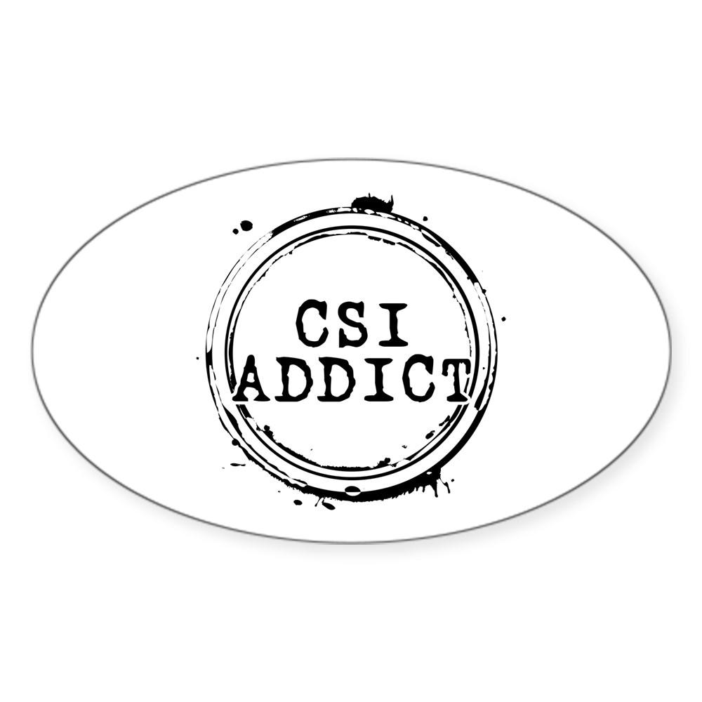 CSI Addict Oval Sticker