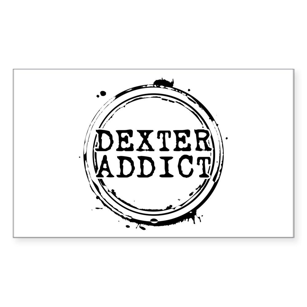 Dexter Addict Rectangle Sticker