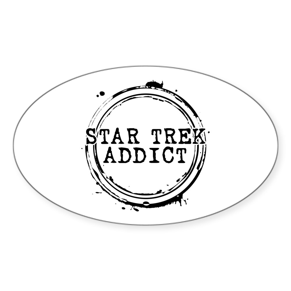 Star Trek Addict Oval Sticker