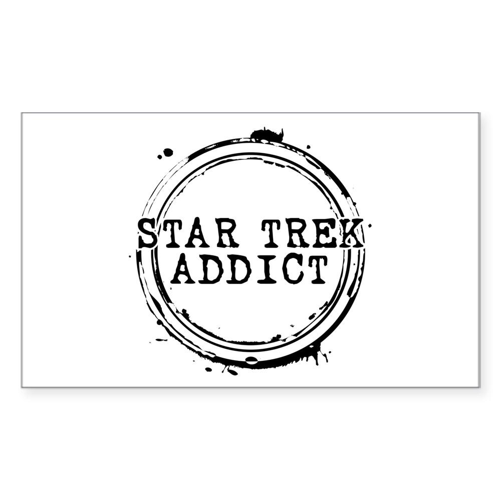 Star Trek Addict Rectangle Sticker