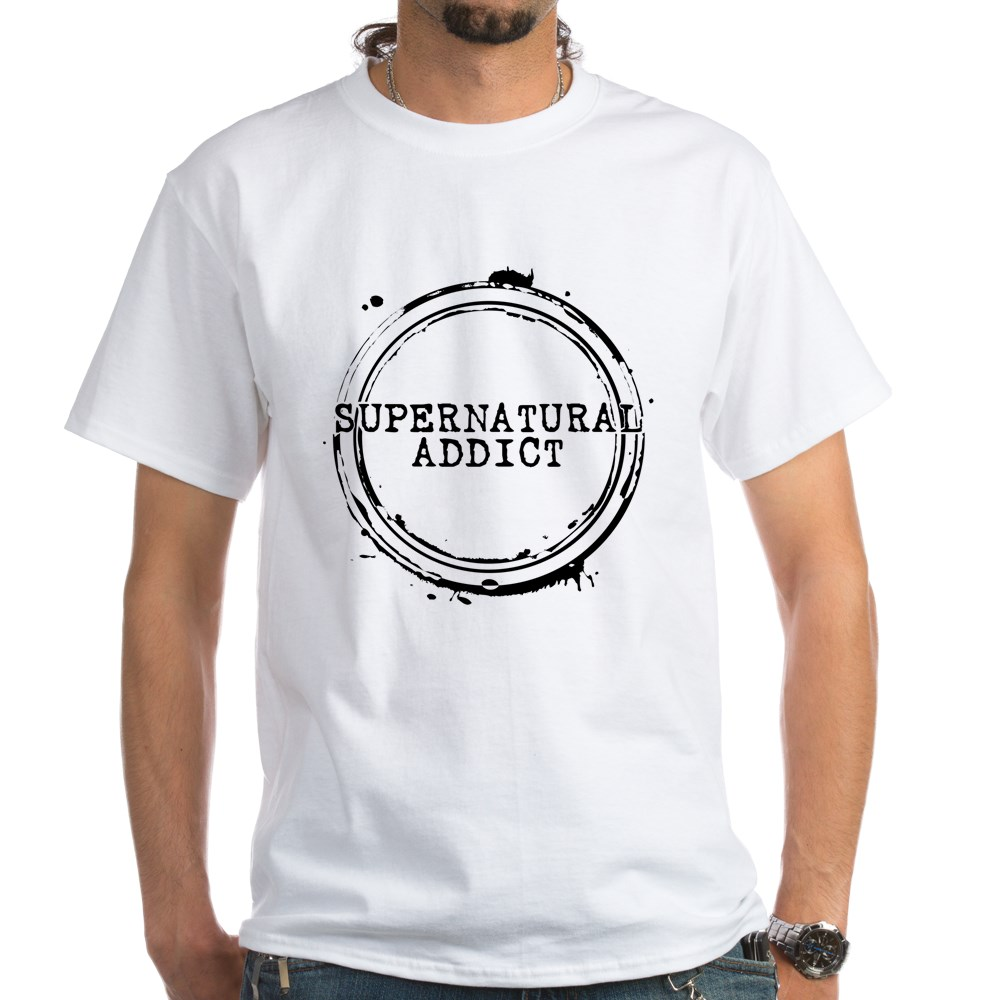 Supernatural Addict White T-Shirt