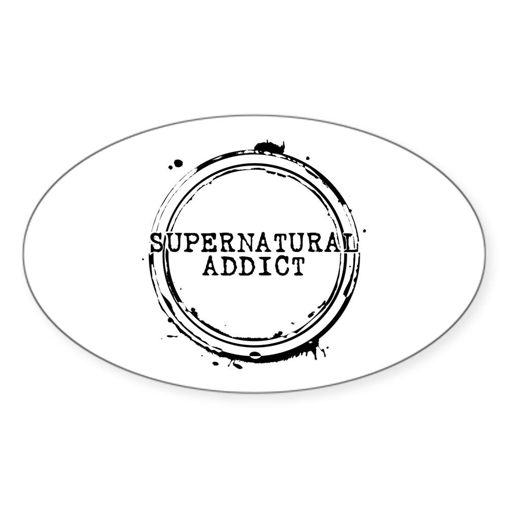 Supernatural Addict Oval Sticker