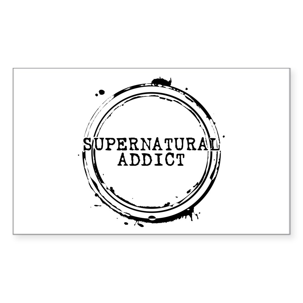 Supernatural Addict Rectangle Sticker