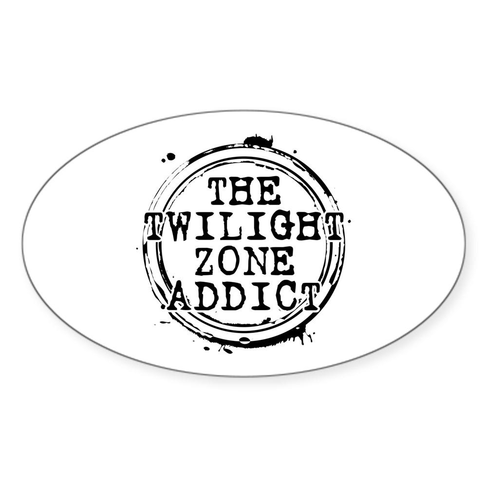 The Twilight Zone Addict Oval Sticker