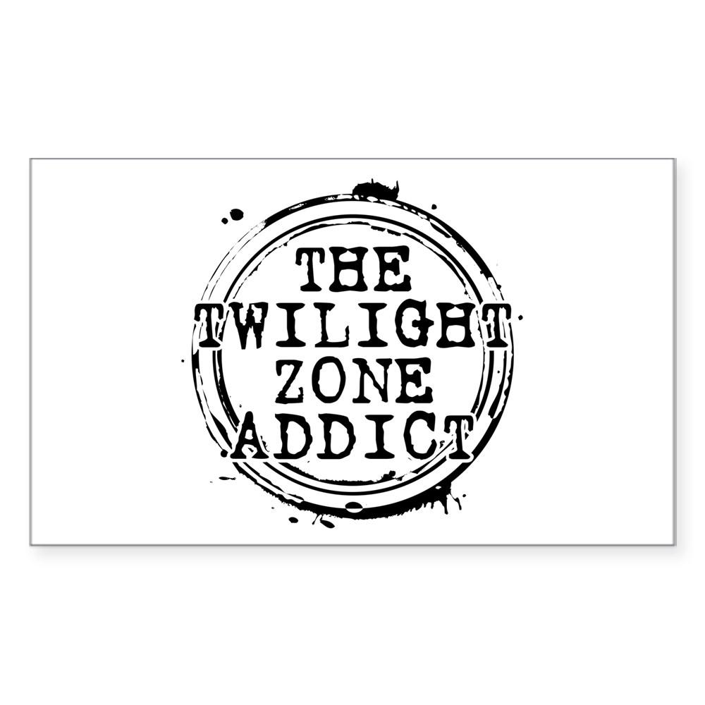 The Twilight Zone Addict Rectangle Sticker