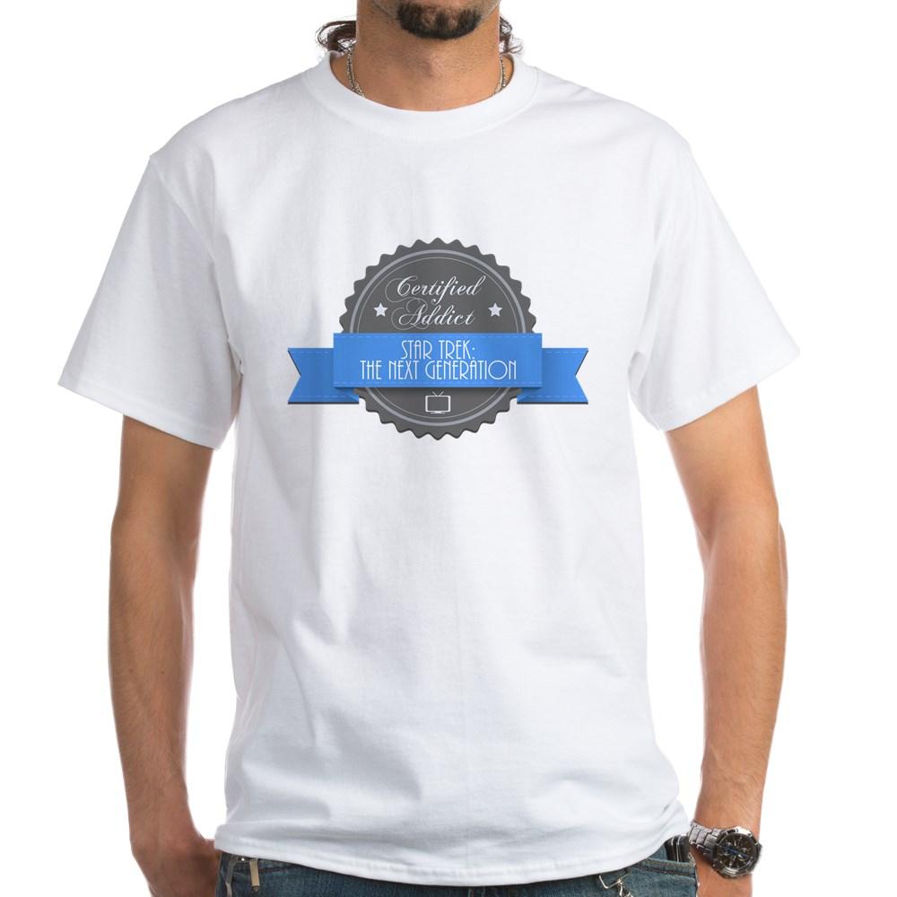 Certified Star Trek: The Next Generation Addict White T-Shirt