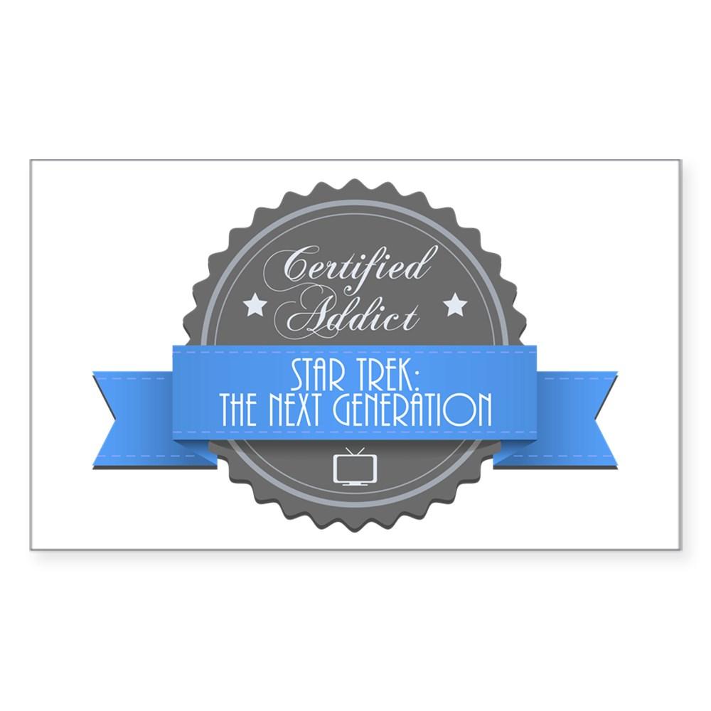 Certified Star Trek: The Next Generation Addict Rectangle Sticker