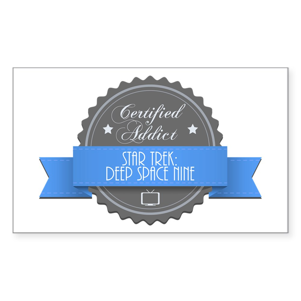 Certified Star Trek: Deep Space Nine Addict Rectangle Sticker