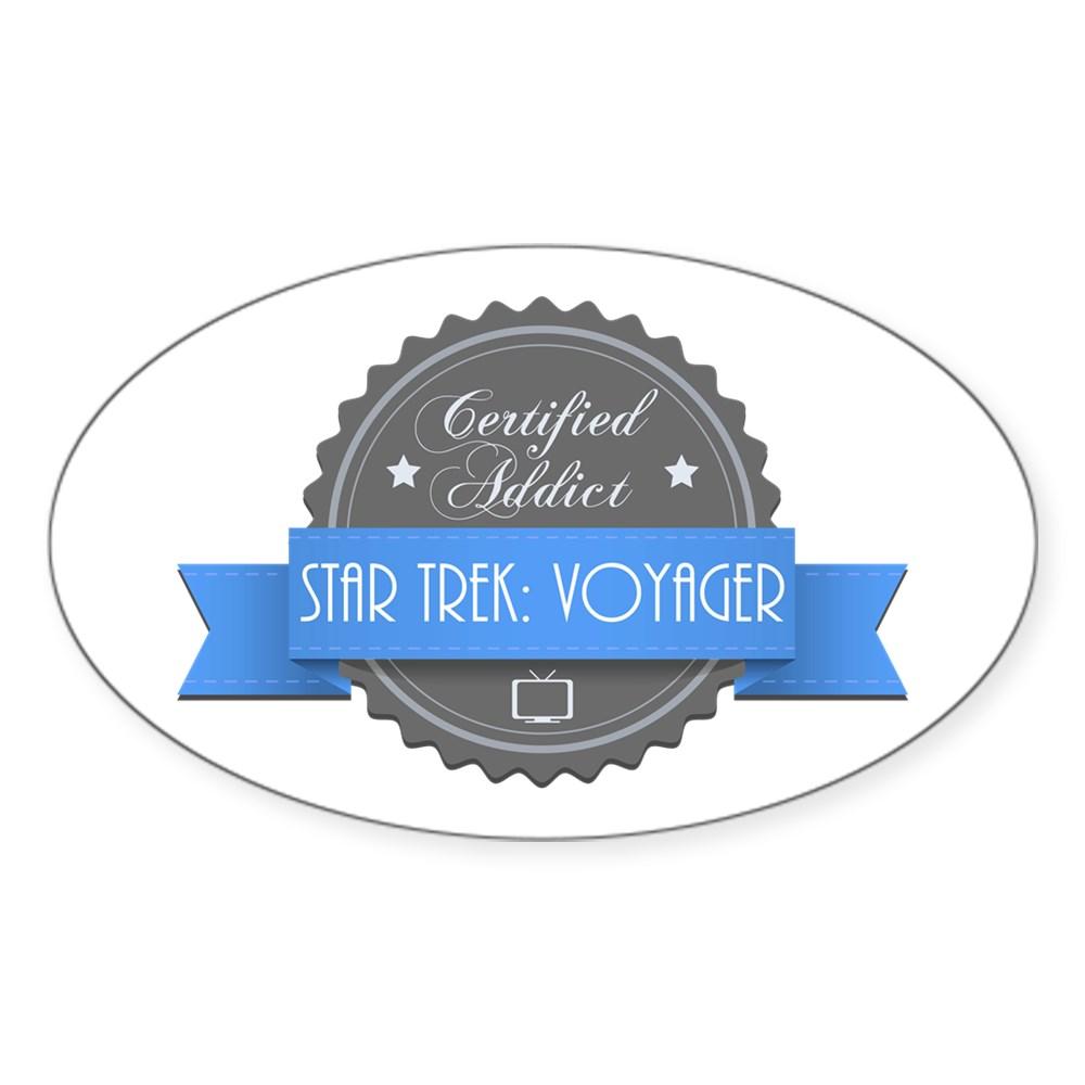 Certified Star Trek: Voyager Addict Oval Sticker