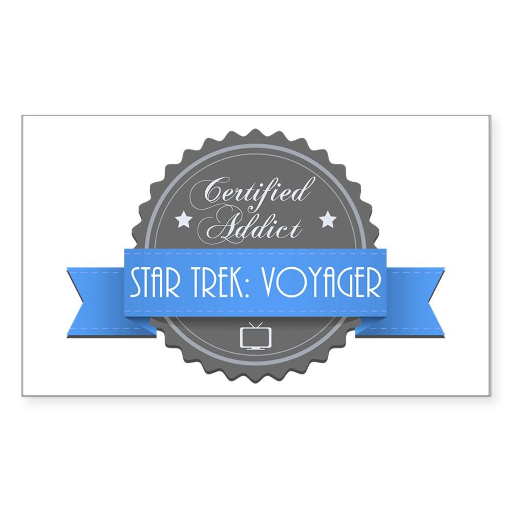 Certified Star Trek: Voyager Addict Rectangle Sticker