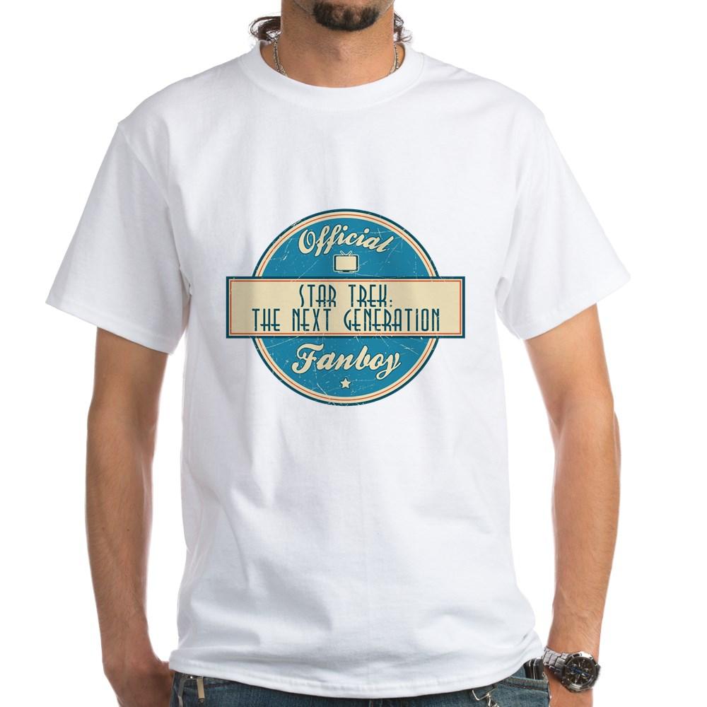 Offical Star Trek: The Next Generation Fanboy White T-Shirt