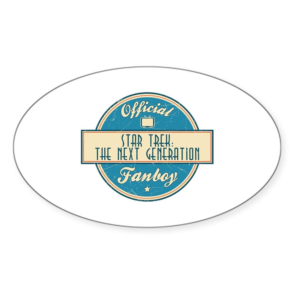 Offical Star Trek: The Next Generation Fanboy Oval Sticker