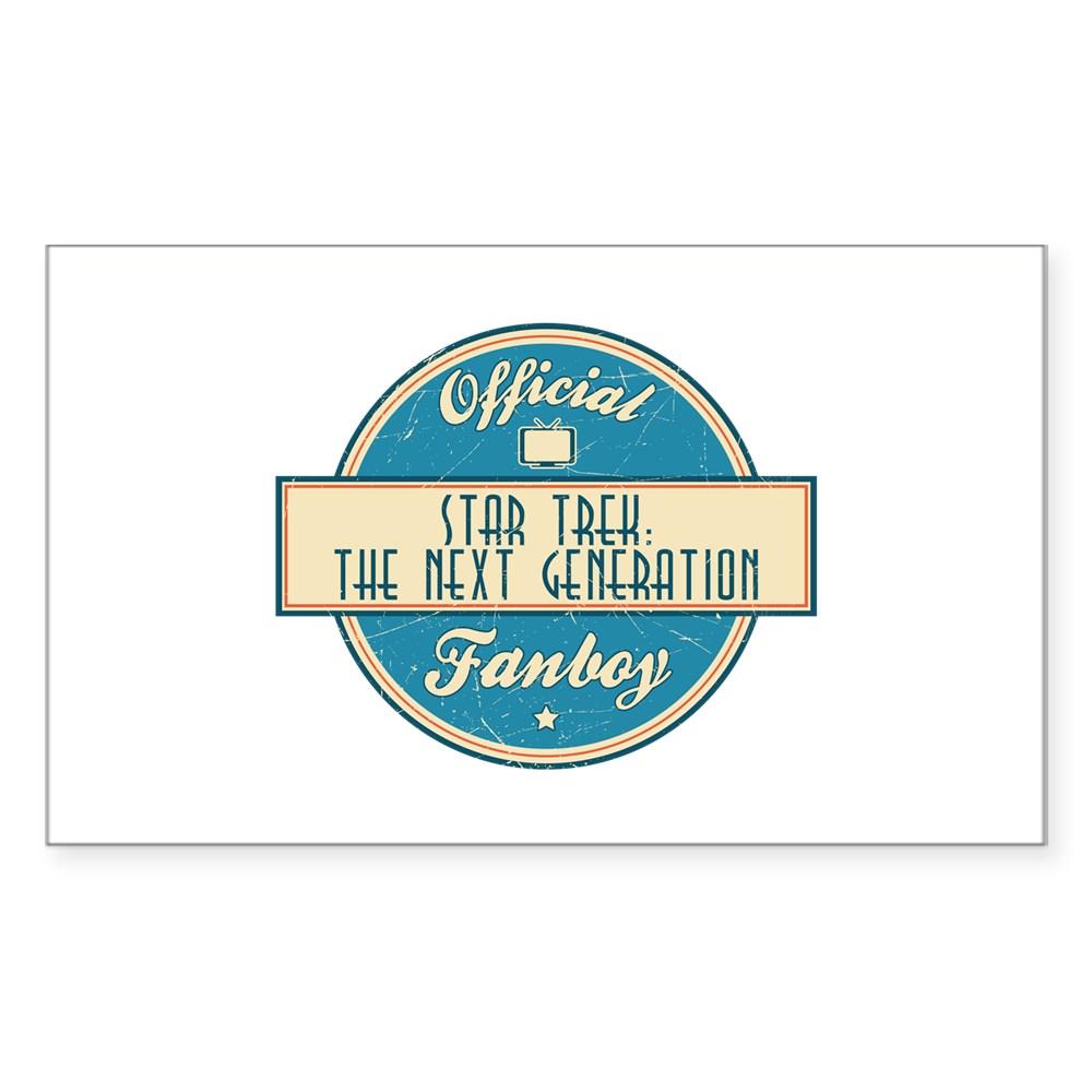Offical Star Trek: The Next Generation Fanboy Rectangle Sticker