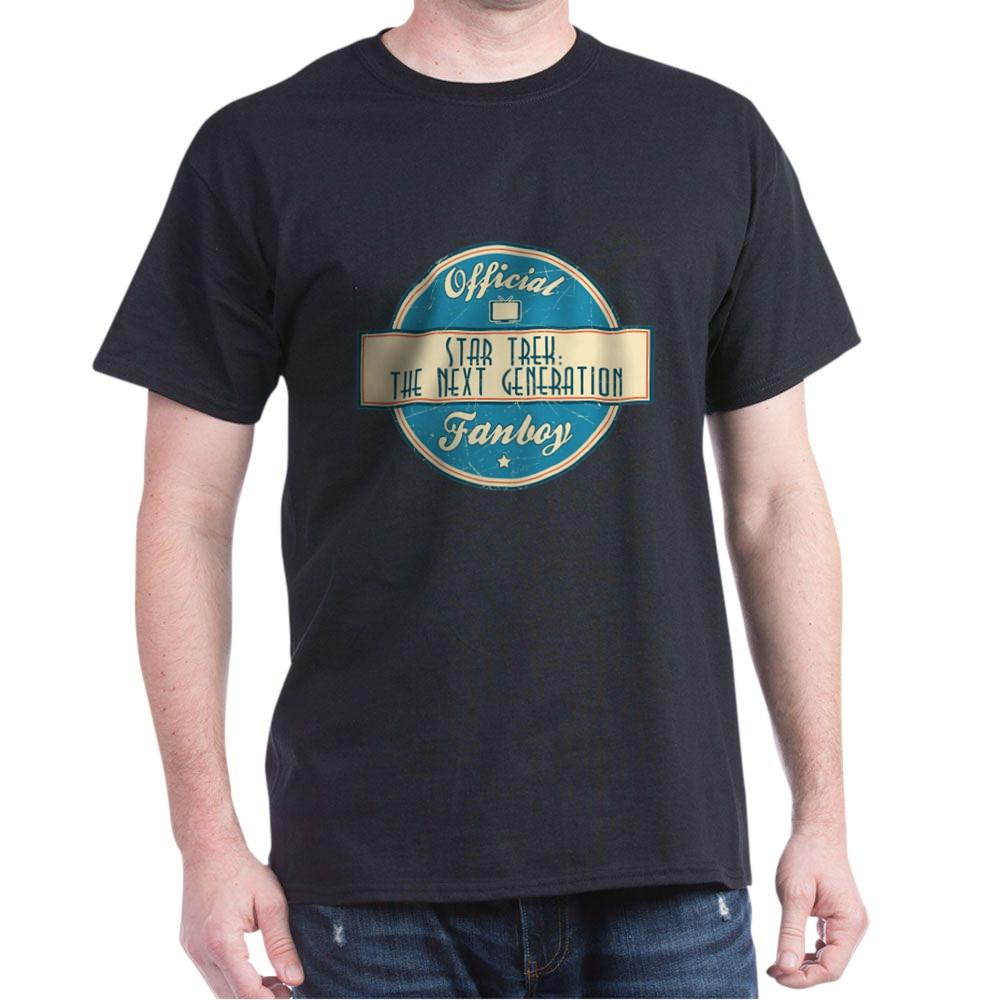 Offical Star Trek: The Next Generation Fanboy Dark T-Shirt