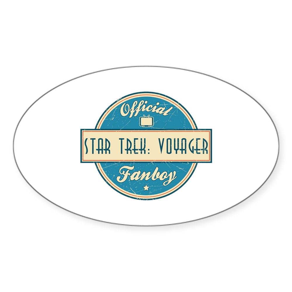 Offical Star Trek: Voyager Fanboy Oval Sticker