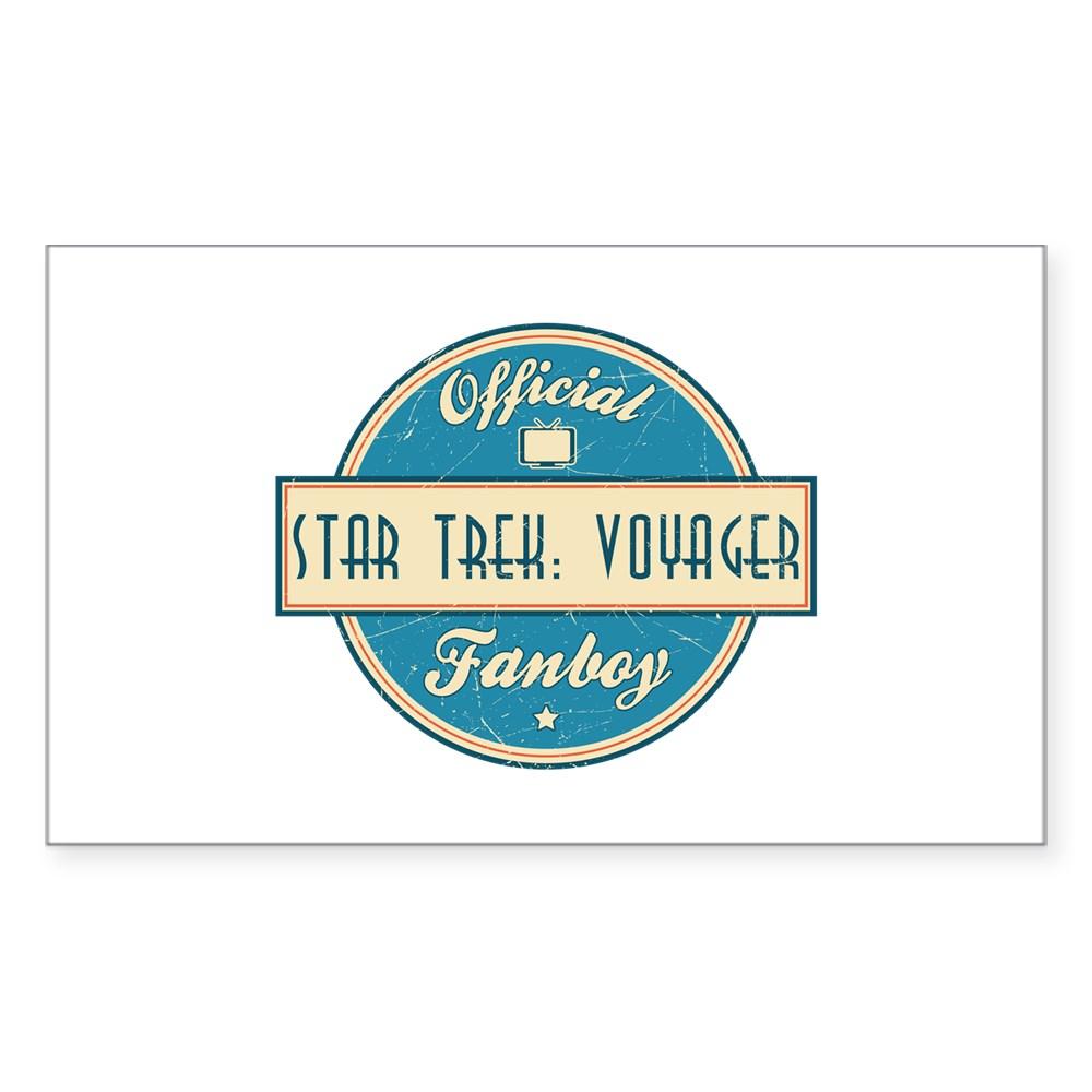 Offical Star Trek: Voyager Fanboy Rectangle Sticker