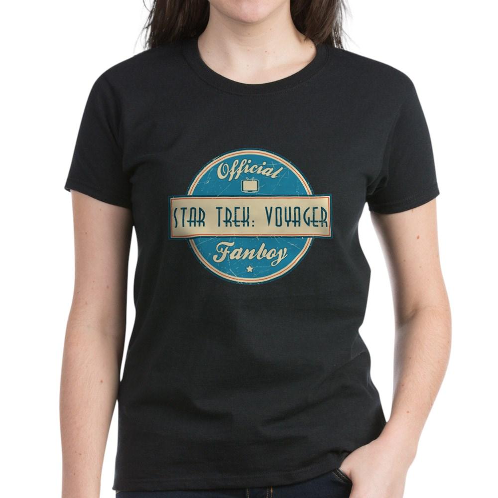 Offical Star Trek: Voyager Fanboy Women's Dark T-Shirt
