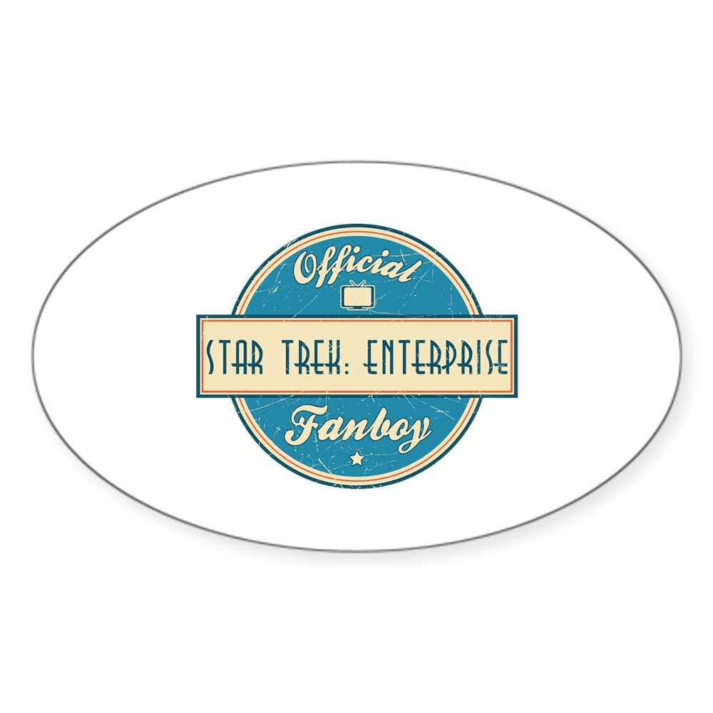 Offical Star Trek: Enterprise Fanboy Oval Sticker