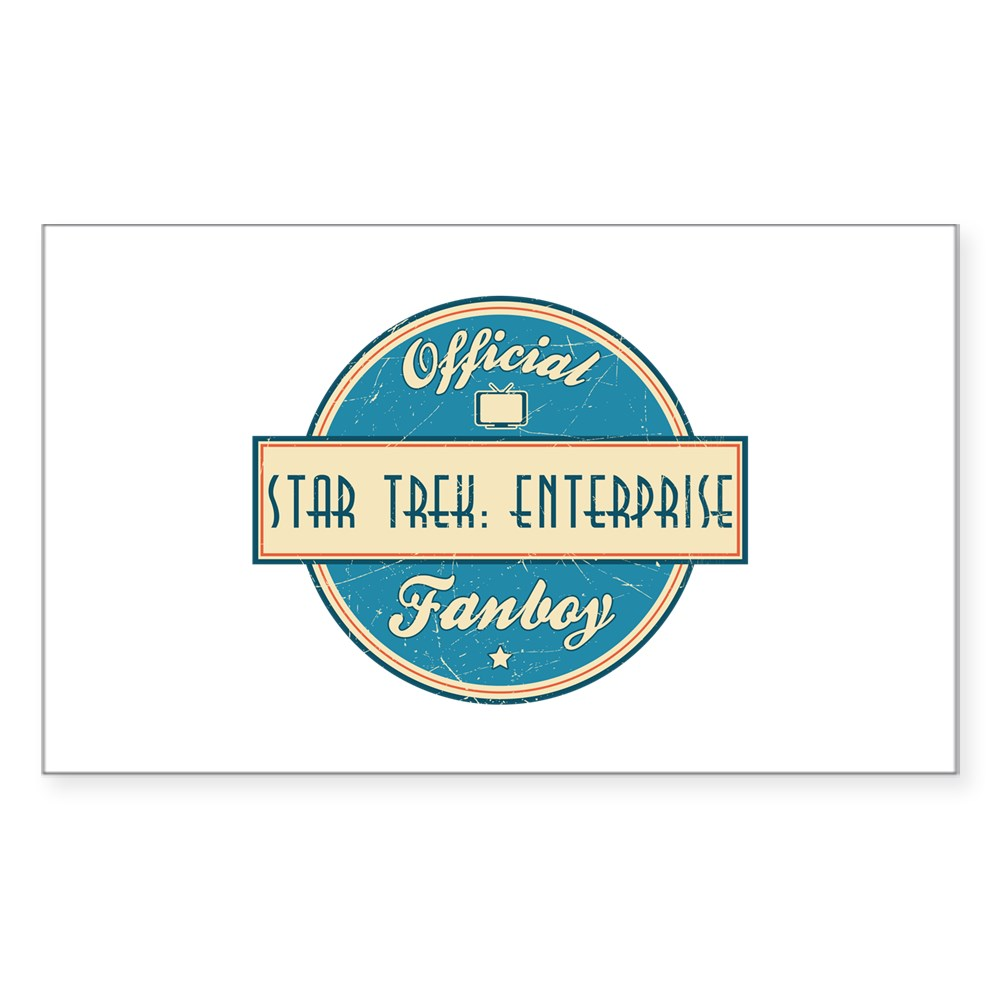 Offical Star Trek: Enterprise Fanboy Rectangle Sticker