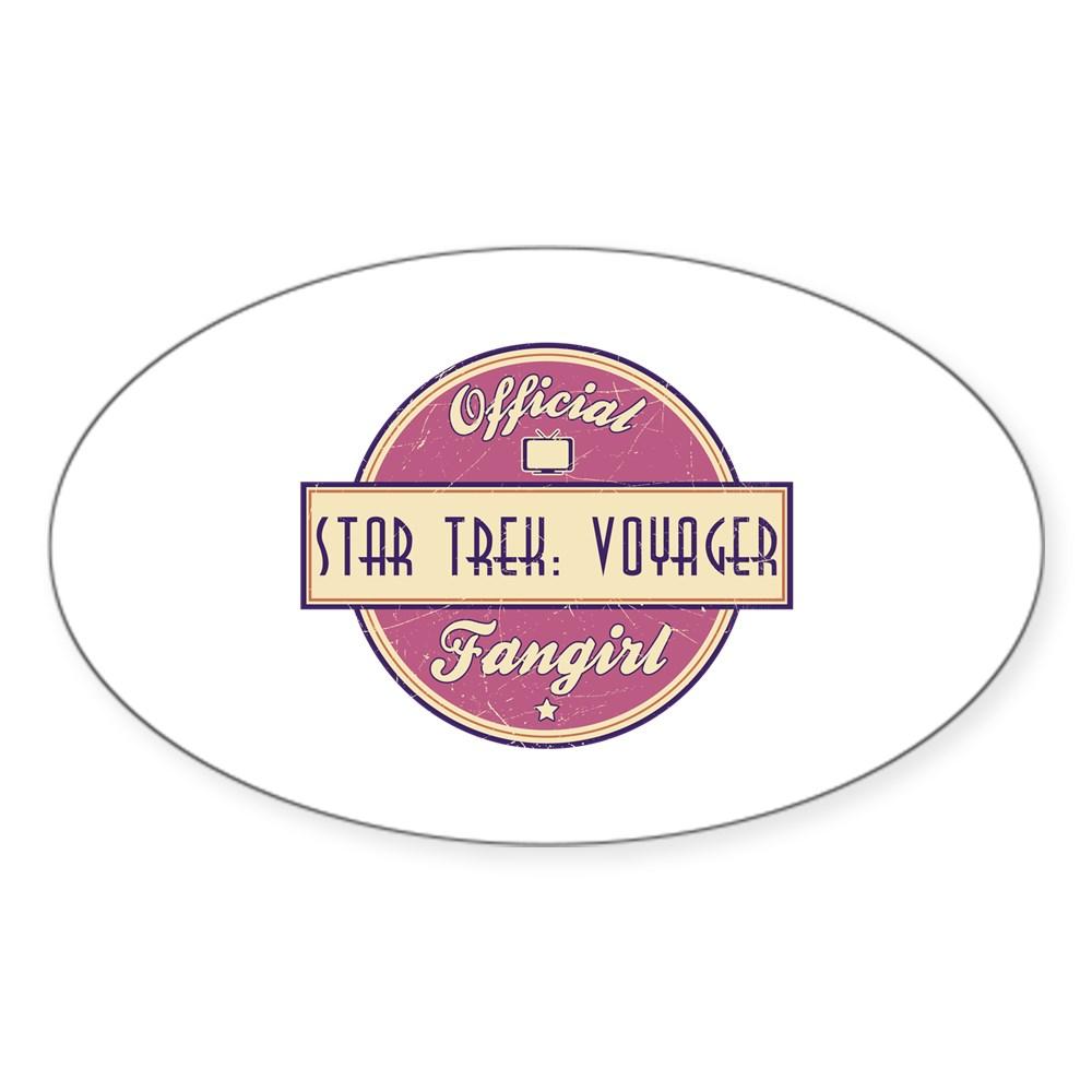 Offical Star Trek: Voyager Fangirl Oval Sticker