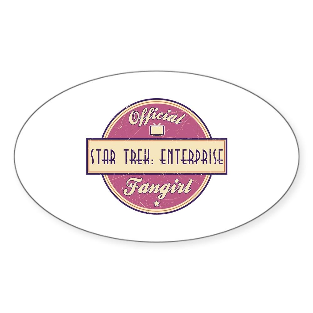 Offical Star Trek: Enterprise Fangirl Oval Sticker