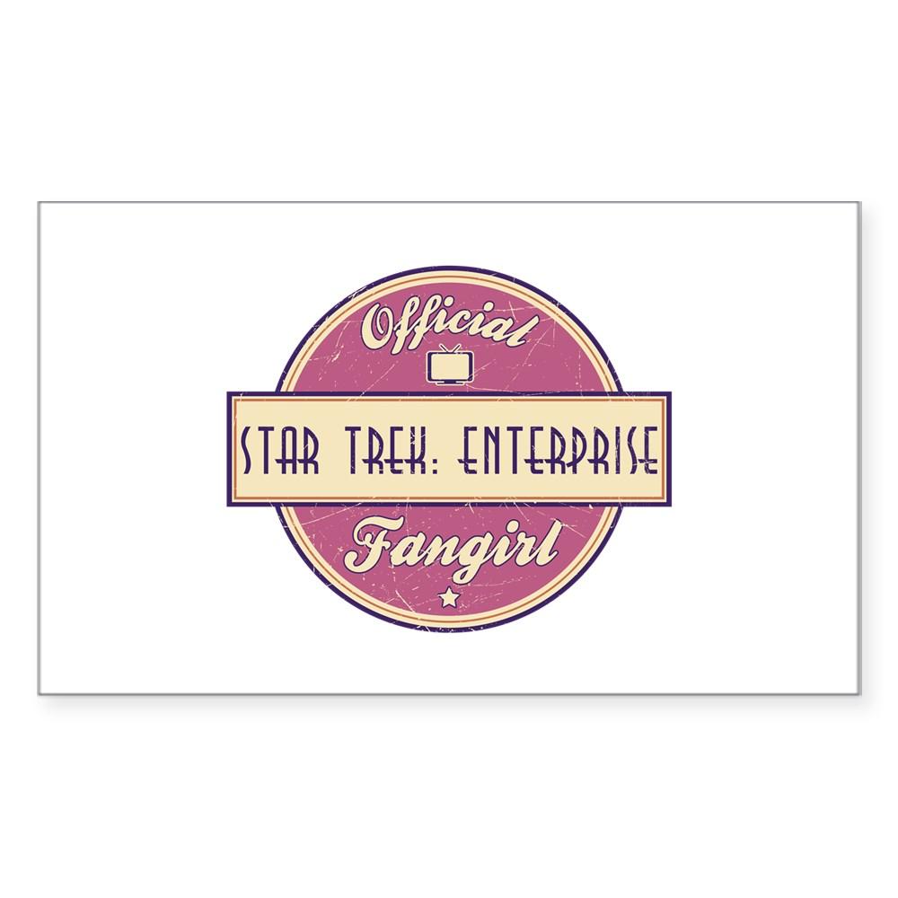 Offical Star Trek: Enterprise Fangirl Rectangle Sticker