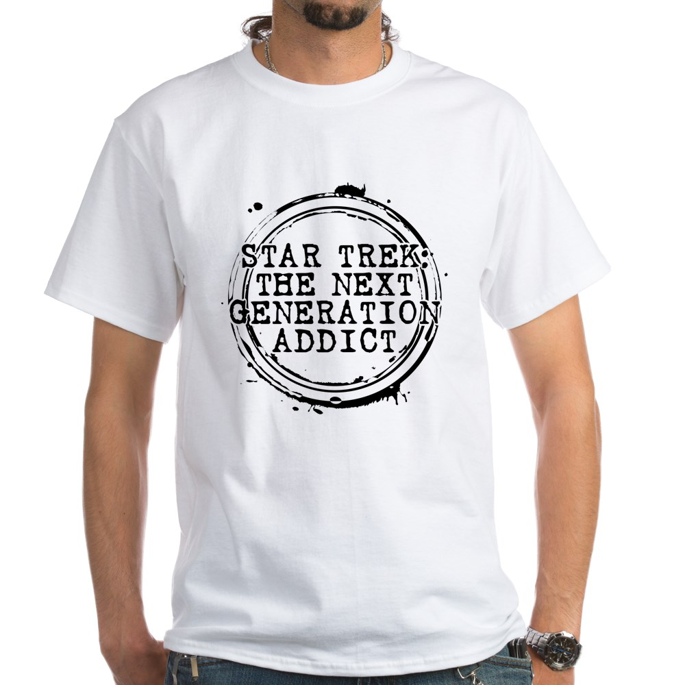 Star Trek: The Next Generation Addict Stamp White T-Shirt
