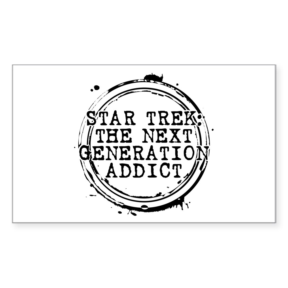 Star Trek: The Next Generation Addict Stamp Rectangle Sticker