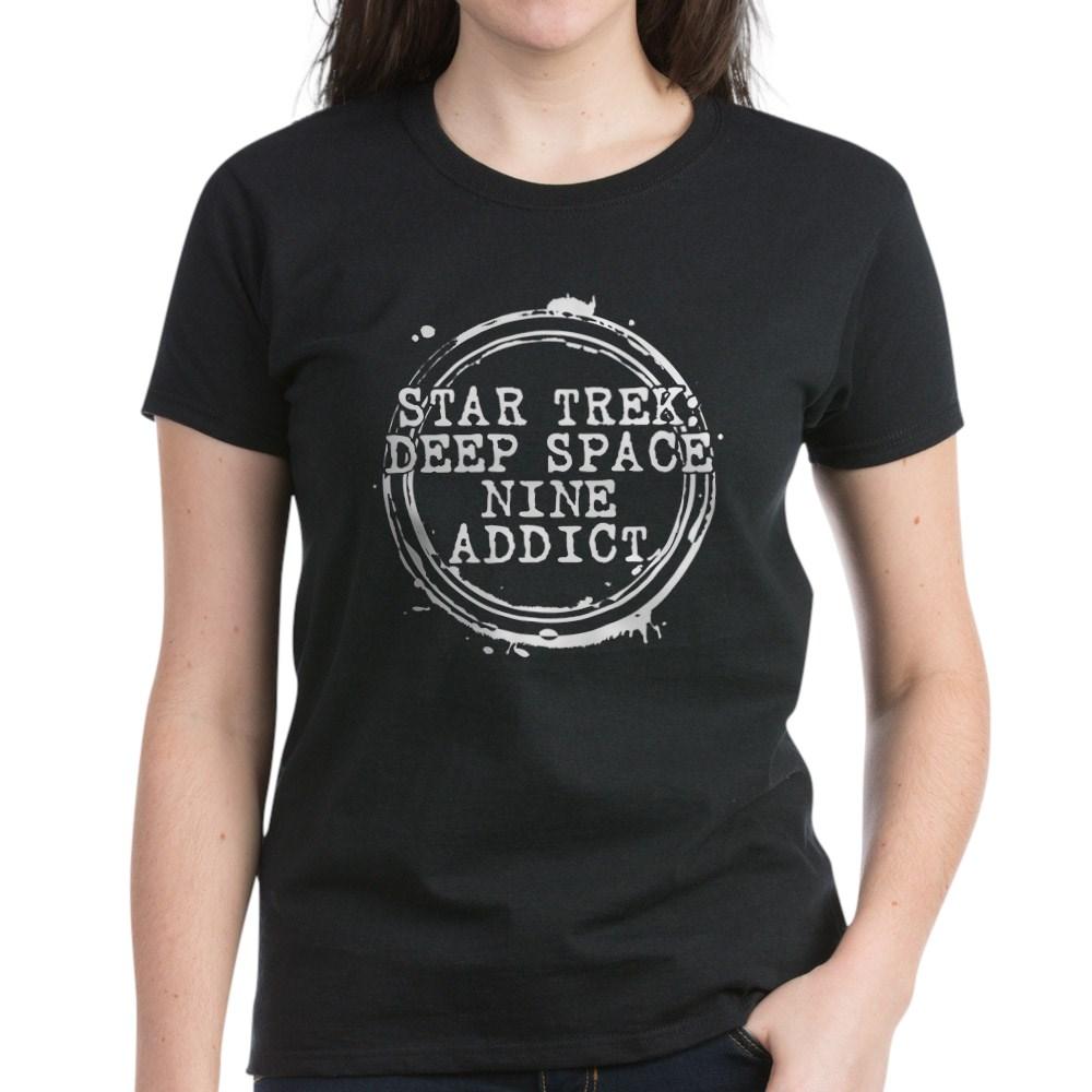 Star Trek: Deep Space Nine Addict Stamp Women's Dark T-Shirt