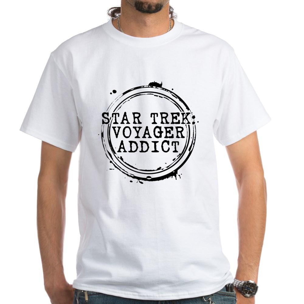 Star Trek: Voyager Addict Stamp White T-Shirt