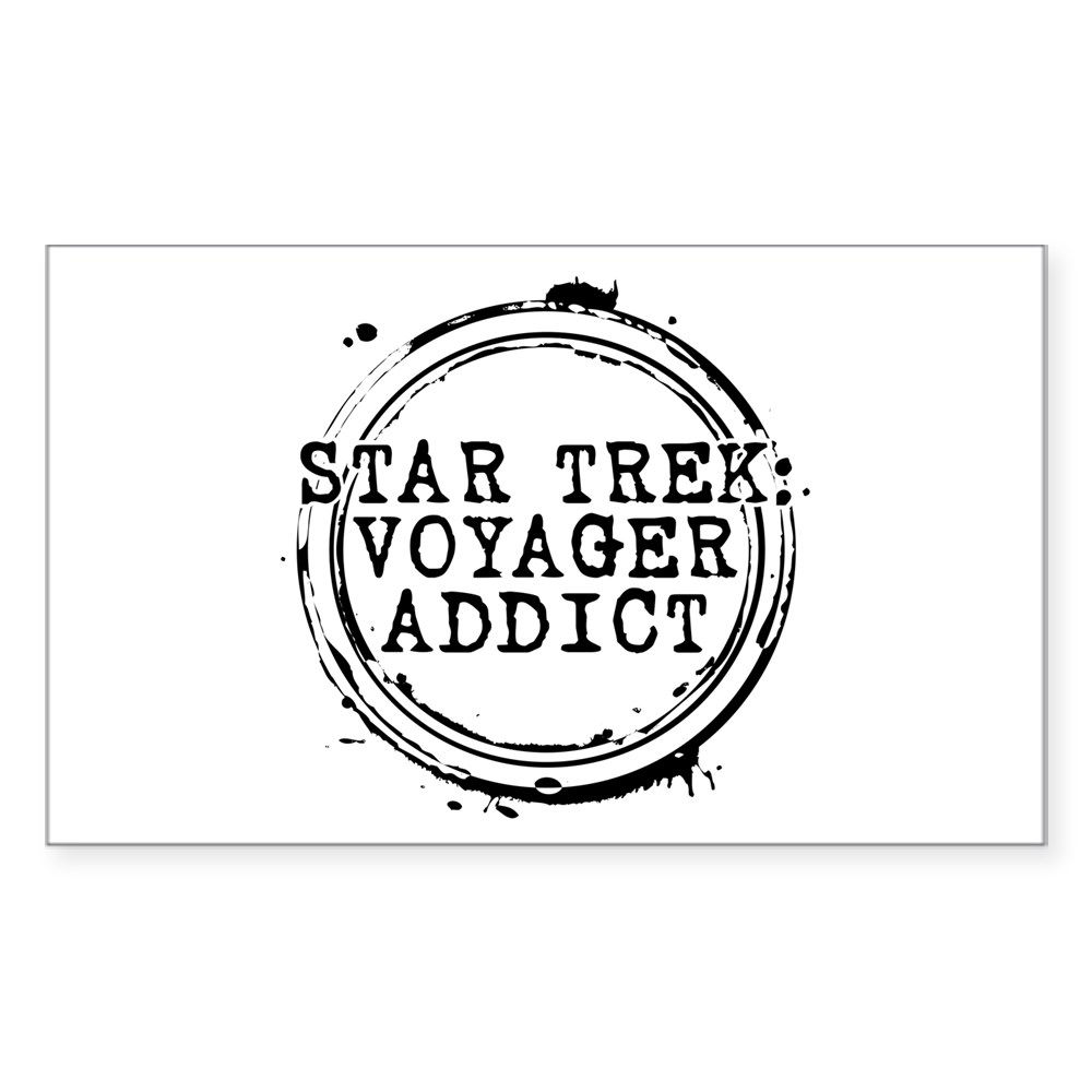 Star Trek: Voyager Addict Stamp Rectangle Sticker