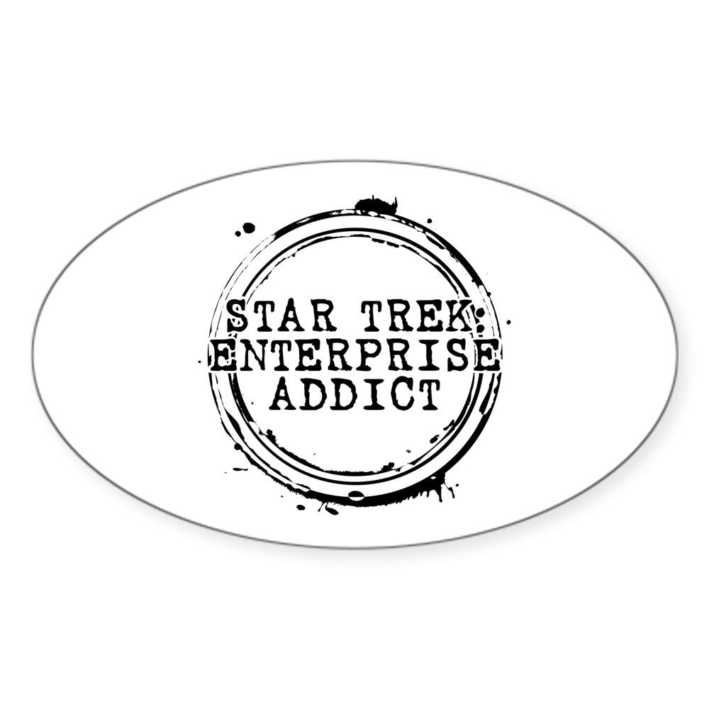 Star Trek: Enterprise Addict Stamp Oval Sticker