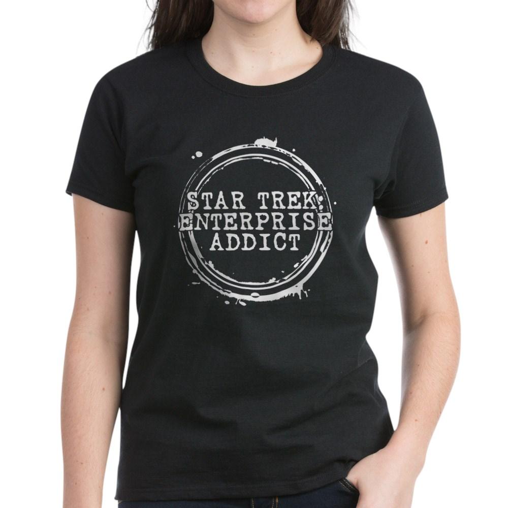 Star Trek: Enterprise Addict Stamp Women's Dark T-Shirt