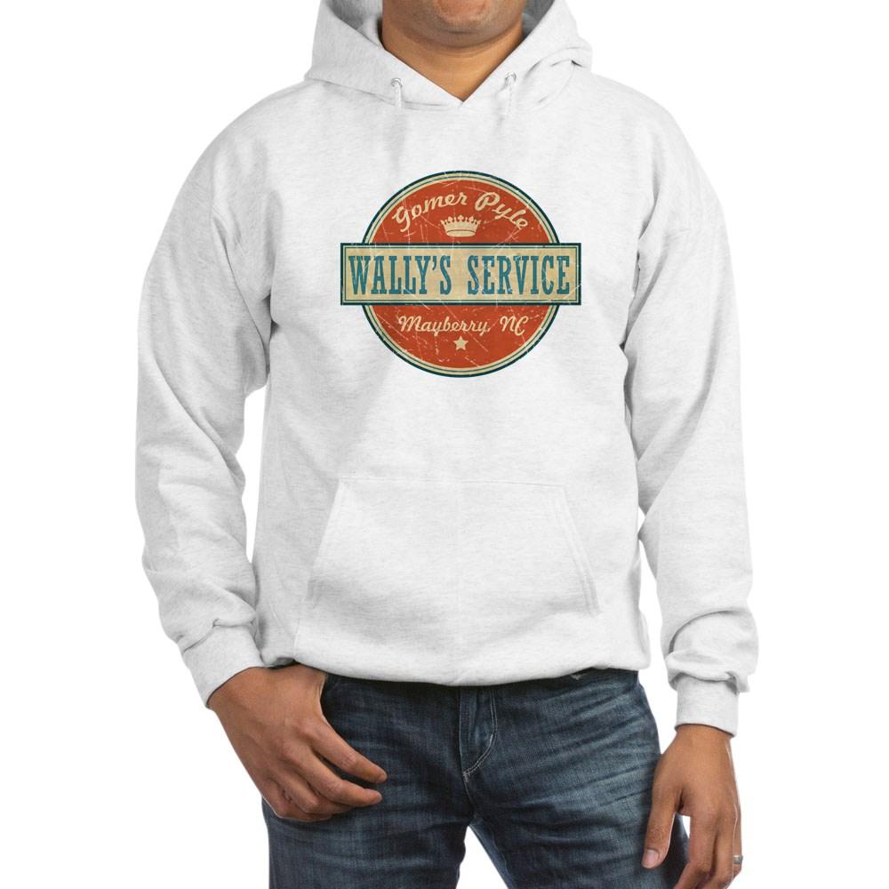 Wally's Service - Gomer Pyle  Hooded Sweatshirt
