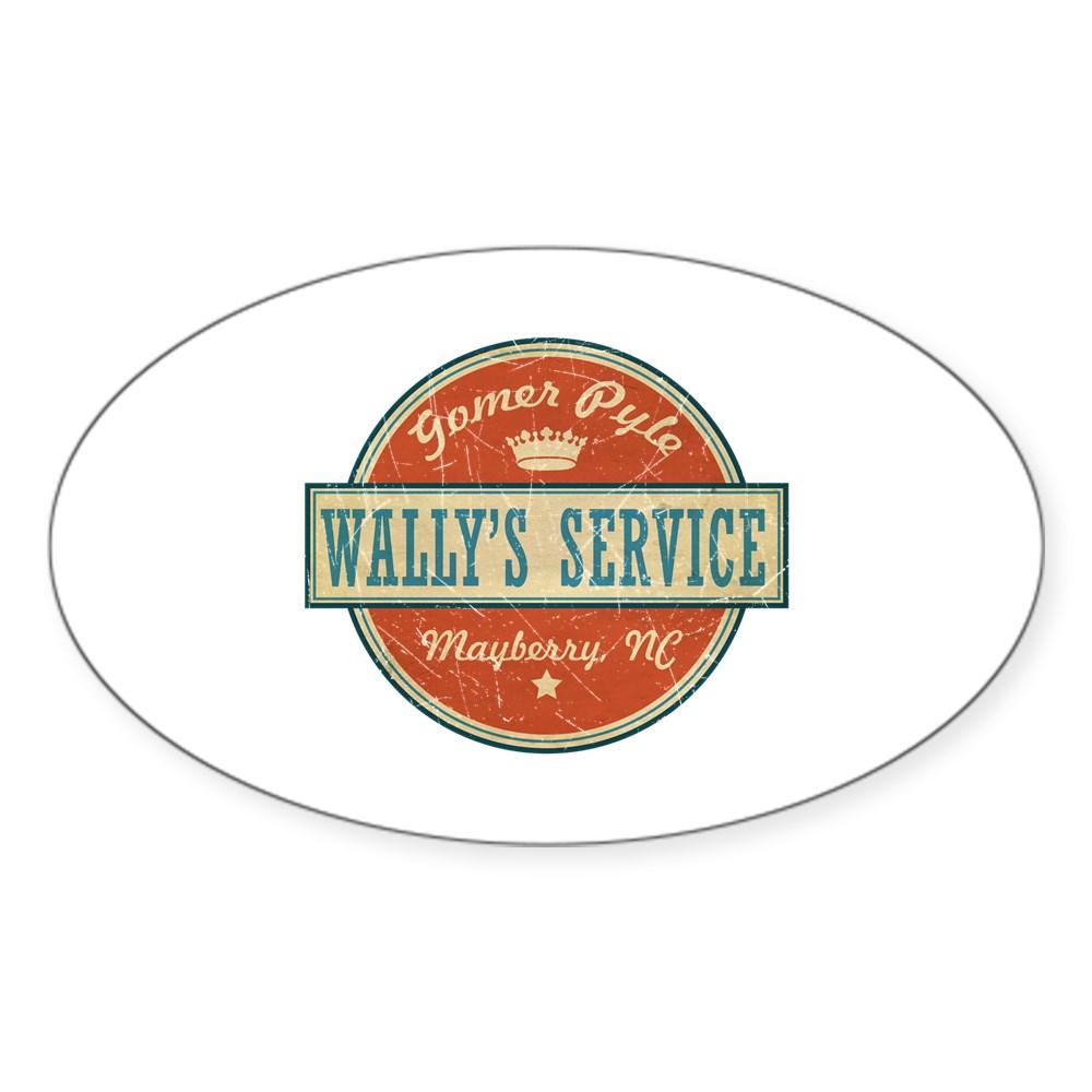Wally's Service - Gomer Pyle  Oval Sticker