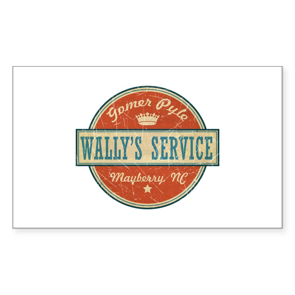 Wally's Service - Gomer Pyle  Rectangle Sticker