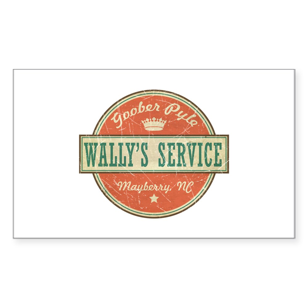 Wally's Service - Goober Pyle Rectangle Sticker