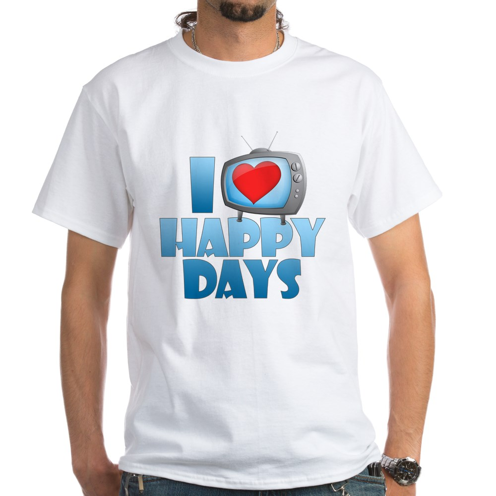 I Heart Happy Days White T-Shirt
