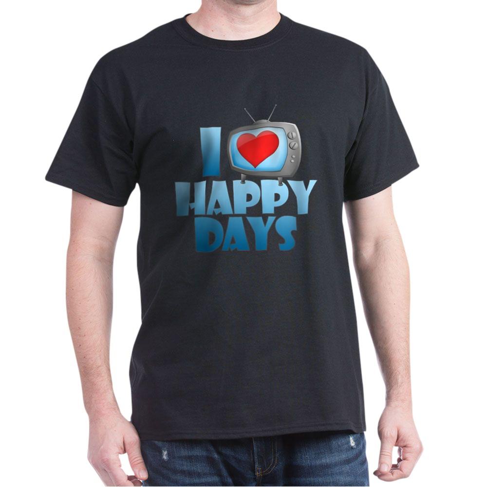 I Heart Happy Days Dark T-Shirt