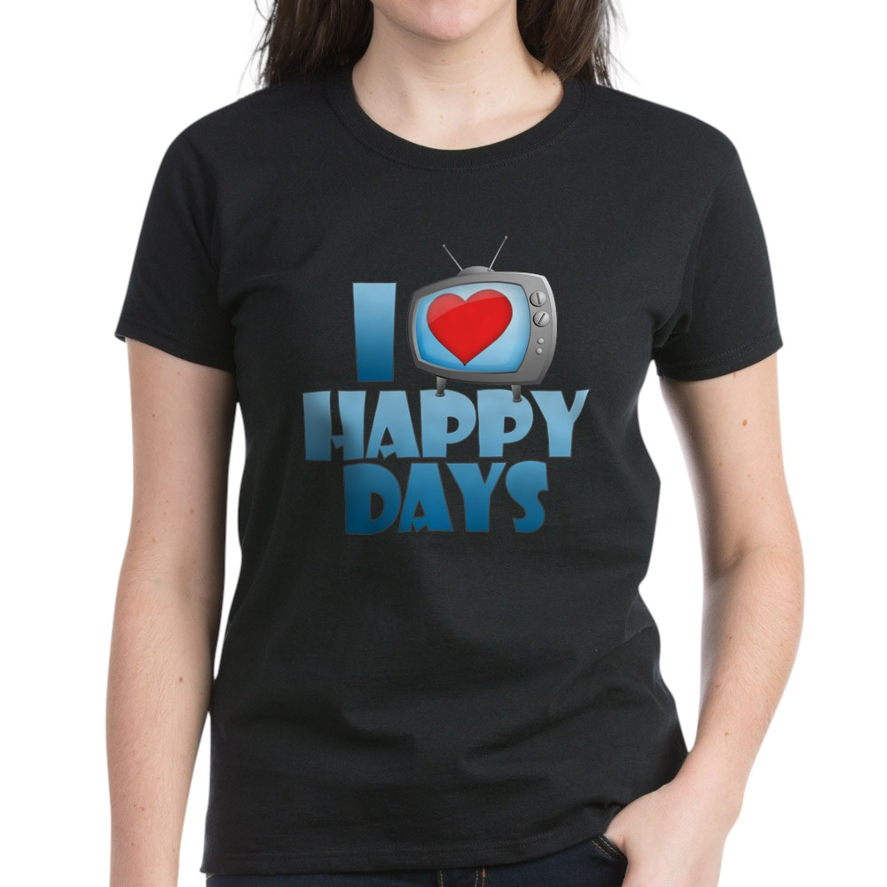 I Heart Happy Days Women's Dark T-Shirt
