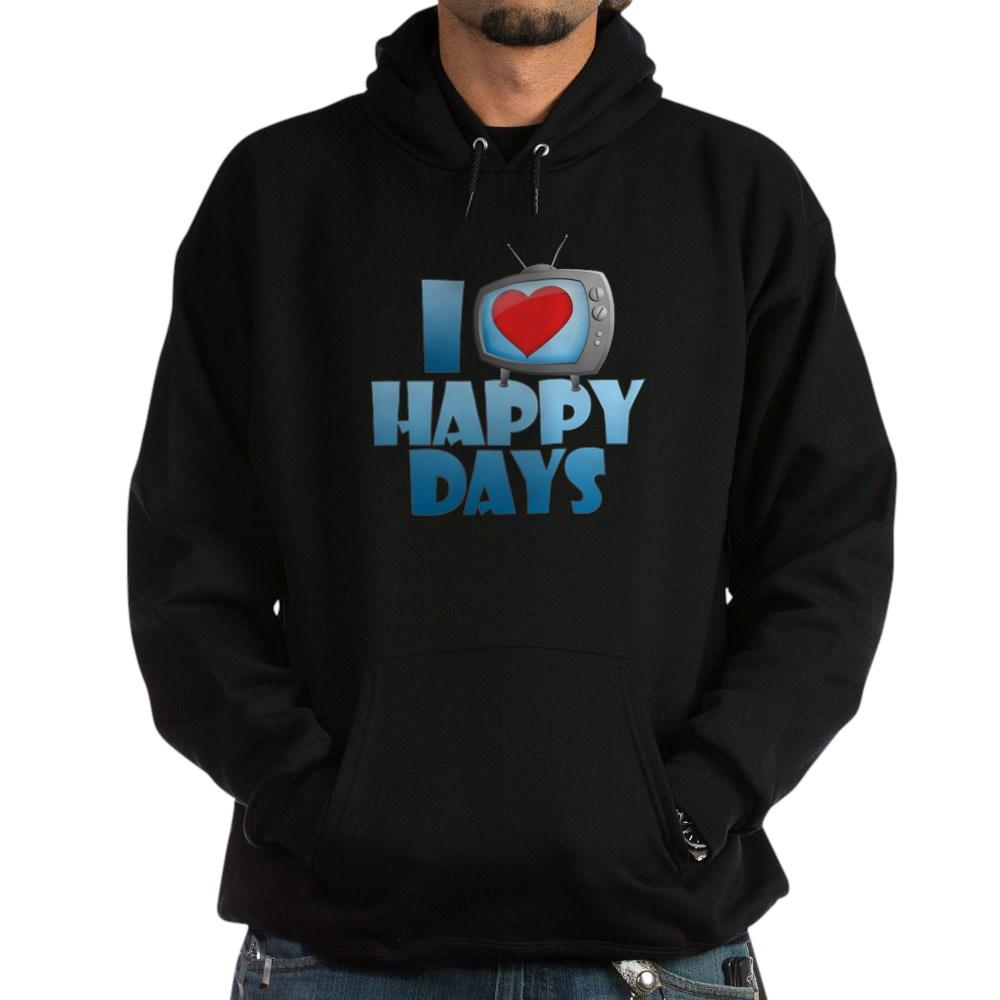 I Heart Happy Days Dark Hoodie