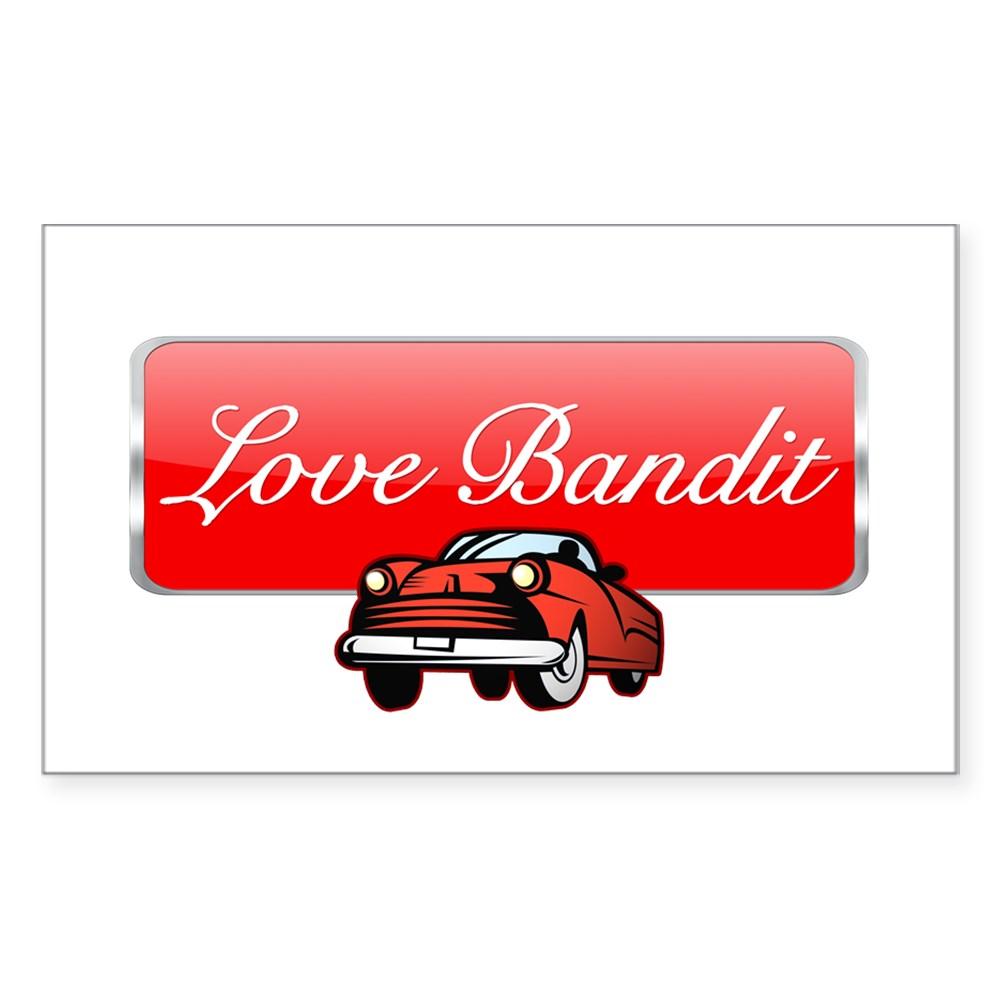 Love Bandit Rectangle Sticker