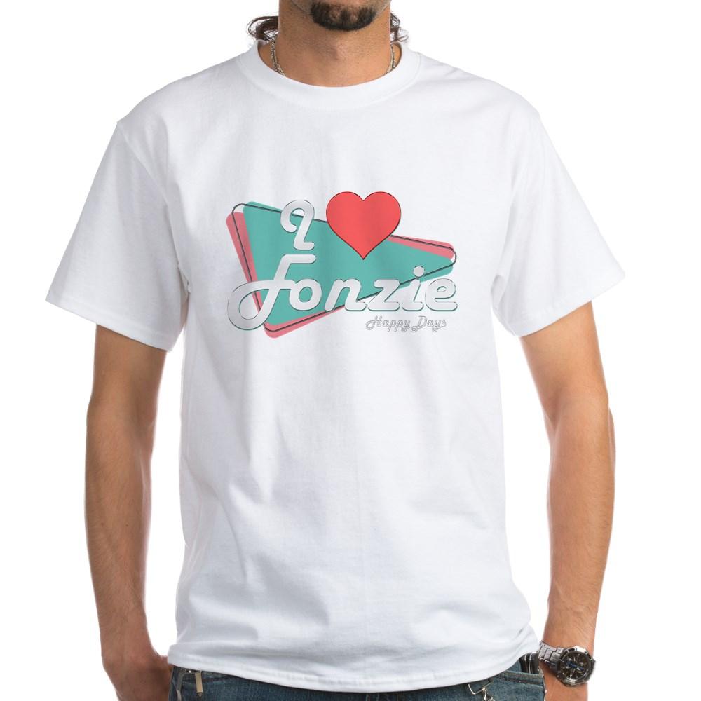 I Heart Fonzie White T-Shirt