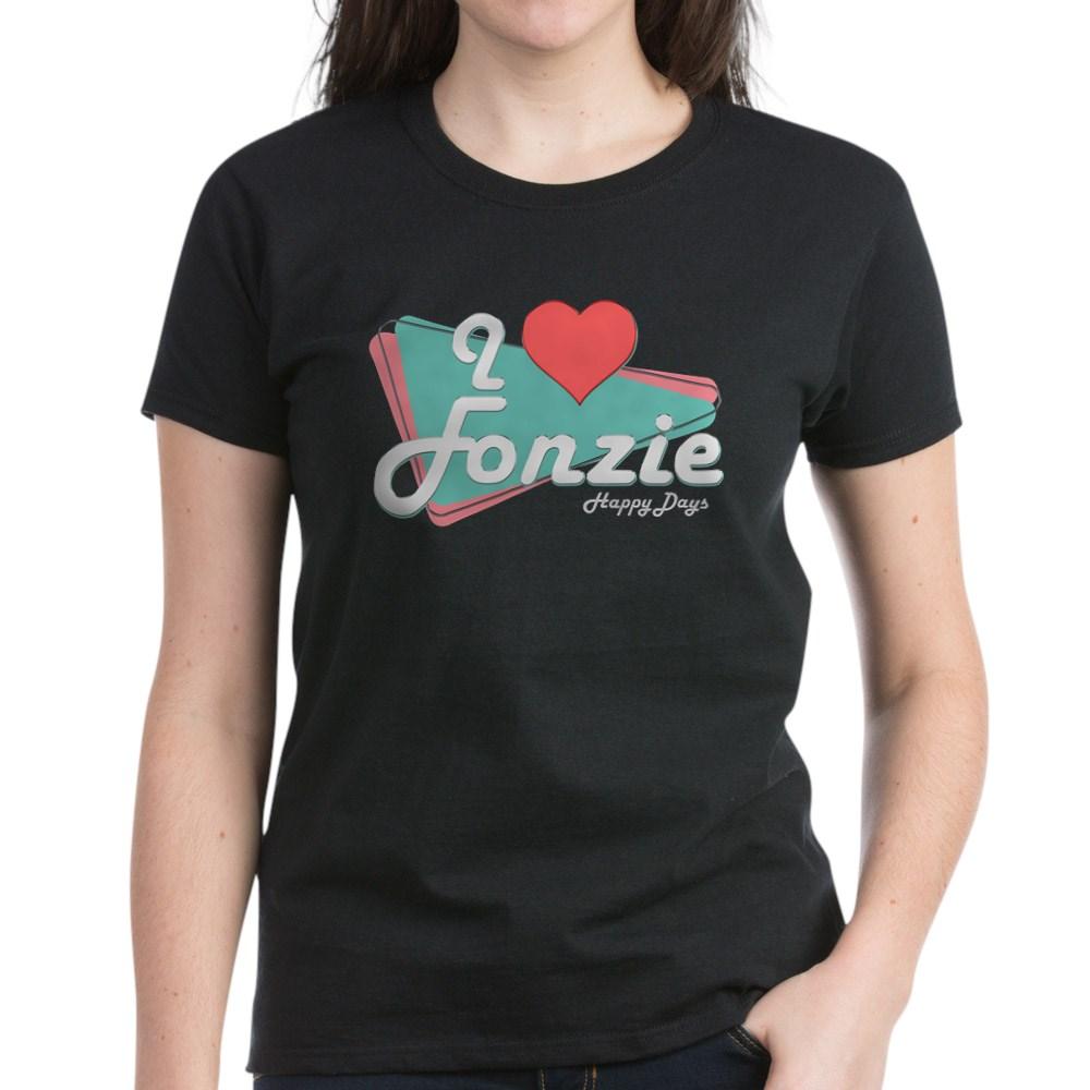 I Heart Fonzie Women's Dark T-Shirt