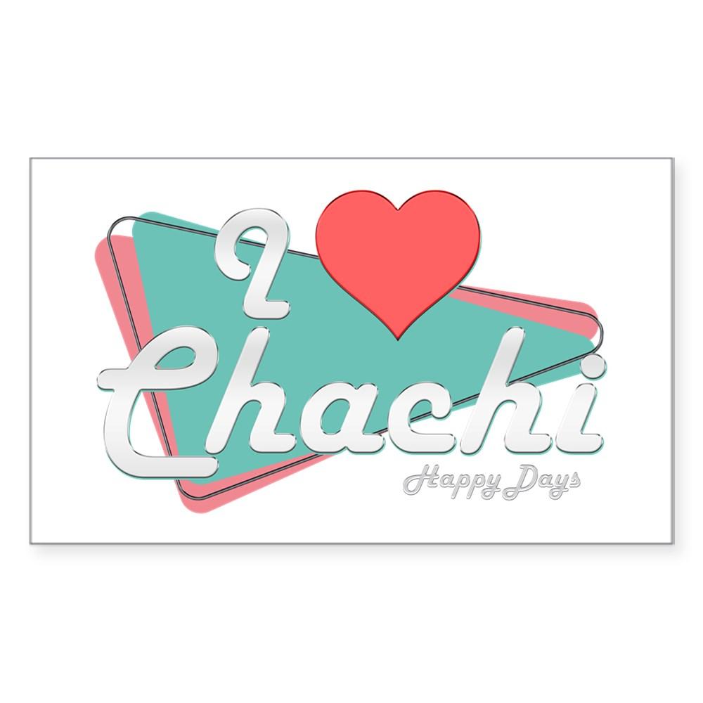 I Heart Chachi Rectangle Sticker